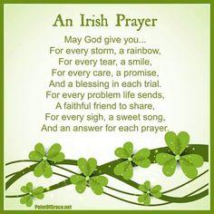 An Irish prayer Irish Poems, Old Irish Blessing, Irish Prayer, Irish Quotes, Irish Sayings, Fun Sayings, Meaningful Sayings, Card Sayings, St Patricks Day Cards