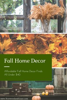 Fall is quickly approaching, and that means it's time to decorate! From door mats to candles, I've rounded up some great fall home decor items under $40!