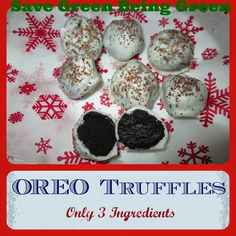 3 Ingredient NO BAKE Oreo Truffles - super  easy Holiday or Christmas Candy to Make