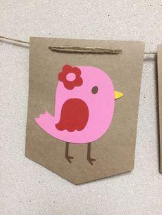 NUEVA chica pájaro BannerBird nombre bebé por Skrapologie en Etsy Baby Banners, Little Birdie, Pink Bird, Baby Shower, Love Birds, New Girl, Birthday Decorations, Party, Etsy