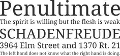 Droid Serif Font Phrases