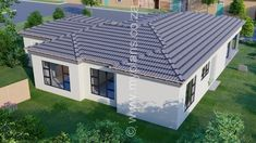 3 Bedroom House Plan - My Building Plans South Africa Residential Building Plan, Building Plans, Single Storey House Plans, House Plans South Africa, 4 Bedroom House Plans, Tuscan House, Dream House Exterior, Open Plan, Master Suite
