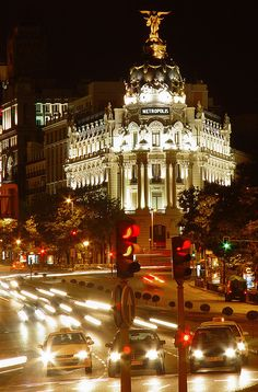 Metropolis - Madrid, Spain    Not my pic, but this is a place that I have visited.  Lovely!