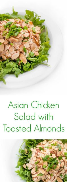 This Asian Chicken Salad is low carb and a paleo option that can be eaten by itself, put on top of greens or your favorite type of bread!
