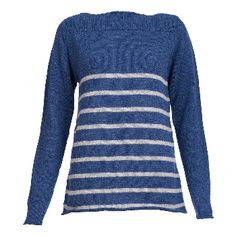 """Bibico Classic Sailor Knit: A """"Hero"""" piece from Bibic's winter collection - the classic Sailor jumper is a failsafe wardrobe staple every winter. Crafted from 100% pure wool, this cosy knit features a boat neck, full length sleeves and is detailed with a nautical-inspired ecru stripe . A timeless style that lifts simple jeans and looks great layered over a crisp white shirt."""