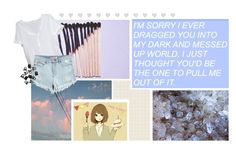 """""""You'd Be The One To Pull Me Out Of It♡"""" by fangirl-kitty ❤ liked on Polyvore featuring art"""