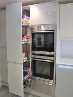 Full height pull out larder gives you maximum storage