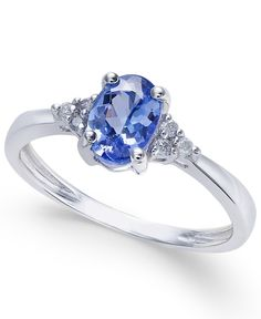 ) and Diamond Accent Ring in White Gold (Also Available in Rose Gold) - Tanzanite/ Jewelry Rings, Jewelry Accessories, Fine Jewelry, Or Rose, Rose Gold, Dragon Necklace, Bridal Earrings, Ring Designs, White Gold