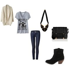 """Band T-shirt outfit"" by hippiegirl421 on Polyvore"