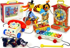 vintage Fisher Price Toys. especially adored the clock. can still hum the melody it played.