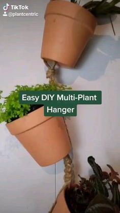 Diy Hanging Planter, Diy Planters, Hanging Plants, Macrame Plant Hanger Patterns, Macrame Plant Hangers, Macrame Patterns, Wall Plant Hanger, Plant Wall, House Plants Decor