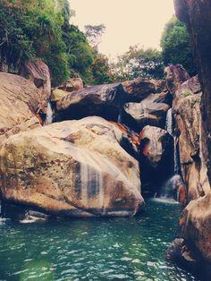 Waterfall in Ba Ho, Nha Trang, Vietnam