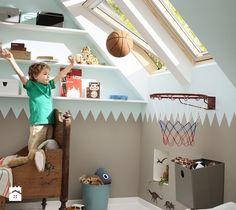 Pokój dziecięcy na poddaszu - inspiracje VELUX - Pokój dziecka - zdjęcie od VELUX
