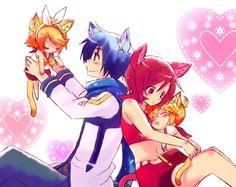 Rin, Kaito Meiko and Len <3