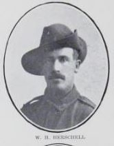 HERSCHELL,   William   Henry.   Private,   No.  6095,   26th   Battalion.   Born   at   Maryborough  in   1885   and   educated   at   Maryborough.