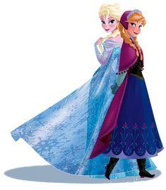 winter anna and elsa illustration | Frozen: Imágenes de Ana y Elsa. Clip Art.