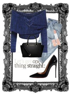 """""""go simple"""" by annalisa-s on Polyvore featuring Wrap, Christian Louboutin, MICHAEL Michael Kors and Rimmel"""