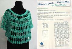 Blusa crochet tejida con bucles de cadenas. Clase magistral