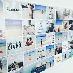 Vakantie foto's in een Instawall met quotes. Instawall van Joyce - panorama 140 x 70