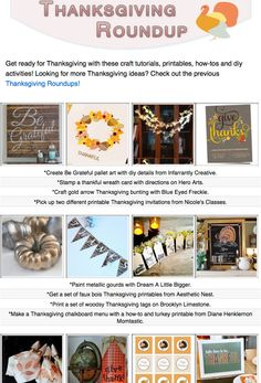 16 Thanksgiving craft tutorials, printables, how-tos and diy activities!