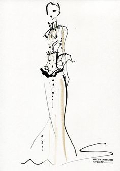 Fashion illustration - fashion sketch for Valentino Pre-Fall 2015 // Miyuki Ohashi