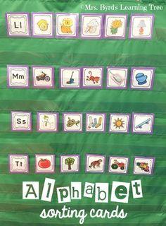 Teaching Letter Sounds, Teaching Letters, Preschool Letters, Preschool Ideas, Letter Sound Activities, Alphabet Activities, Literacy Activities, Kindergarten Centers, Kindergarten Literacy