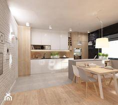 Kuchnia - zdjęcie od MOTHI.form Interior Design Kitchen, Future House, Divider, Living Room, Table, Kitchens, Furniture, Home Decor, Decoration