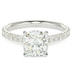 cushion cut diamonds <3