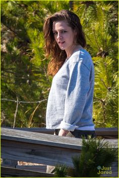 Things Are Getting Windy For Kristen Stewart on 'Still Alice' Set |