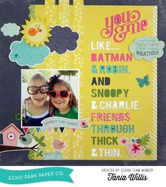 Word Background Silhouette Tutorial with Tania - Echo Park Paper #Scrapbook