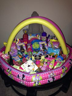 25 great easter basket ideas easter bright and holidays giant easter basket for all my girls to share made out of a small inflatable negle Image collections