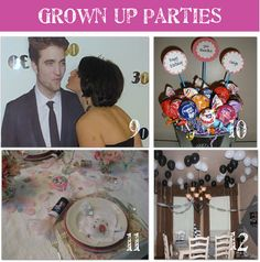 It's fun to have a theme for grown-up birthday parties too!