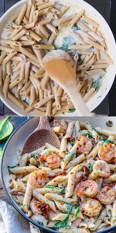 Creamy Shrimp Pasta, Creamy Pasta Recipes, Shrimp Recipes, Thai Pasta, Healthy Shrimp Pasta, Quick Pasta Recipes, Creamy Pasta Dishes, Spicy Shrimp, Chicken Recipes