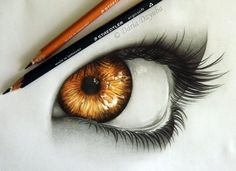 realistic eyes pencil drawing