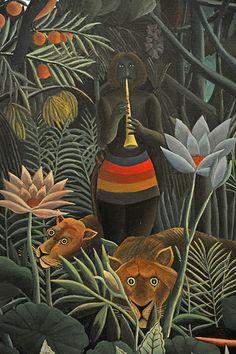 Henri Rousseau. The Dream. 1910, detail. MoMA, NYC | by renzodionigi Henri Rousseau Paintings, Francis Picabia, Jungle Art, Moma Nyc, Guache, Post Impressionism, Tropical Art, Naive Art, Art For Art Sake