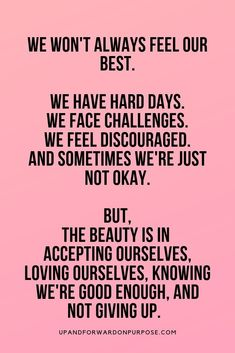 We all have days that suck the life out of us. We work hard, we parent, have financial struggles, and adult-ing is hard. Here you will find my tips on how to stay motivated when you're not feeling your best, and how to keep going while loving yourself. Self Love Quotes, Daily Quotes, True Quotes, Words Quotes, Wise Words, Quotes To Live By, Motivational Quotes, Inspirational Quotes, Sayings