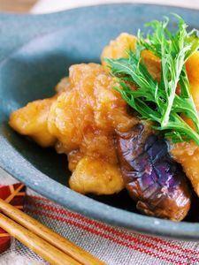 味がしみしみ〜♪『むね肉となすのサッパリ♡おろしポン酢煮』