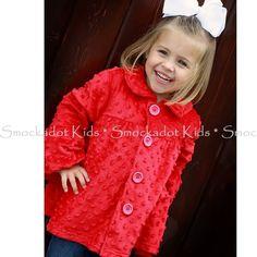 11/1/12  Red Minky Swing Coat