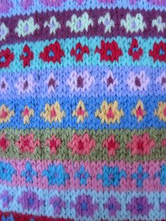 Fair Isle Sample - Kaffe Fassett pattern