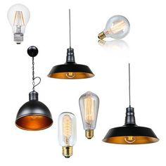 Vintage Industrie Design Deckenleuchte Hängelampe Pendel Glühlampe Glühbirne LED