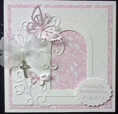 Order Code: 061407 Very pretty Christening card. Looks just as lovely in pale blue.