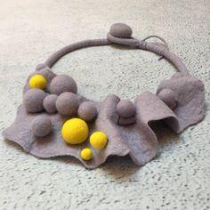 Jewelery made from wool.