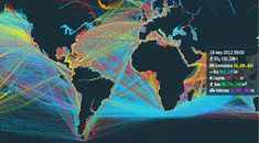 Image result for shipping routes map