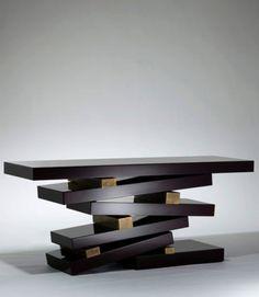 ♂ Unique product design table Herve Van der Straeten Console Empilee 405 Edition 20 78.7 x 23.6 x 33.1H
