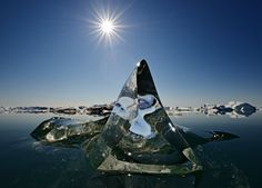 Amazing Ice Pyramid in Greenland 12/2014