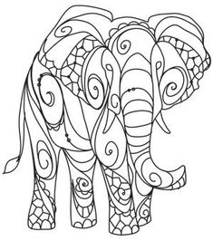 The Delicate Ones - Elephant design (UTH10755) from UrbanThreads.com #embroiderydesigns