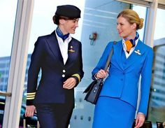 KLM's Pilot and Cabin crew