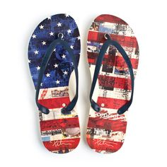 98ccdd6507b1d4 Flip Flop ~ Men s US Flag - Our Nation s Creations