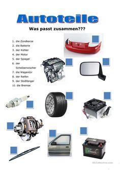 car parts - deutsch - Autos Foreign Language Teaching, German Language Learning, German Resources, Deutsch Language, German Grammar, Languages Online, Perfect Resume, Learn German, Teaching Materials