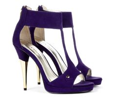 Plum T-Strap Heels